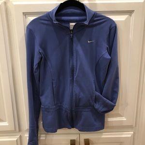 NIKE blue  zip up jacket